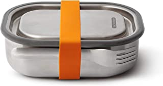 Black+Blum BAM-SS-S003 Stainless Steel Lunch Box Small - Orange Steel & Silicone