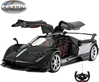 Licensed RC Car 1:14 Scale Pagani Huayra BC | Rastar Radio Remote Control 1/14 RTR Super Sport Car Model w/ Open Doors (Black)