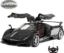 Licensed RC Car 1:14 Scale Pagani Huayra BC | Rastar Radio Remote Control 1/14 RTR Super Sport Car Model w/ Open Doors (Black)