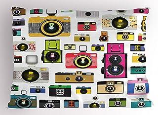 ABAKUHAUS Vintage Funda de Almohada Cámaras Fotográficas Vintage Antiguas Pasatiempo Artístico Tema Estudio Diseño Decorativa Estampada Tamaño Standard Dos Plazas 65 X 50 cm Multicolor