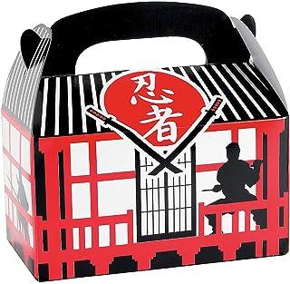 Fun Express Ninja Warrior Treat Boxes for Birthday - Set of 12 - Ninja Party Decorations