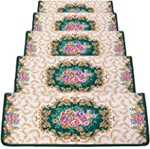 HAIPENG Rectangle Self Adhesive Stair Carpet Treads Pads Mats Non Slip Staircase Rugs Washable, 5 Sizes, 4 Colors (Color :...
