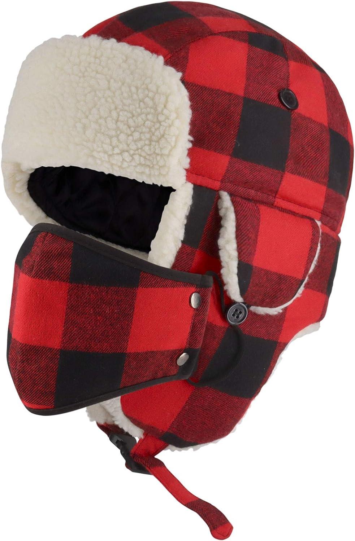 CHOK.LIDS Lumberjack Plaid Max 84% OFF Winter Trapper Extra Premium Unisex New popularity S
