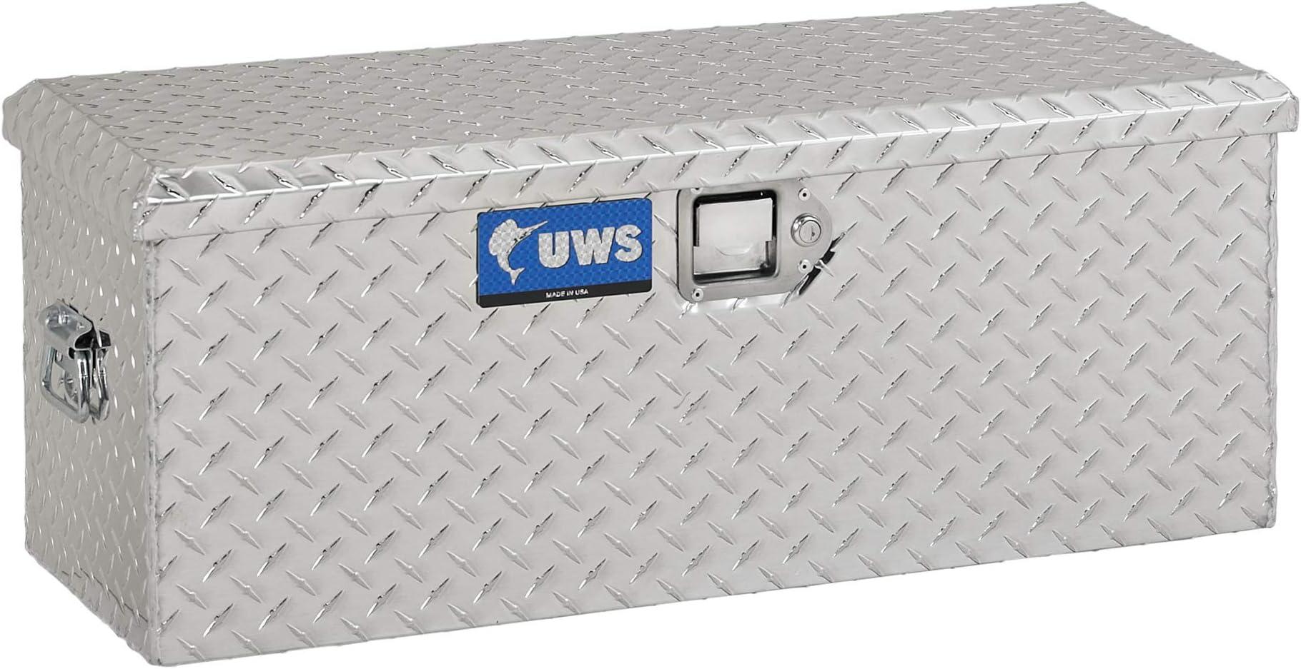 UWS EC20001 32-Inch Heavy-Wall Aluminum ATV Storage Box, RigidCore Lid , Black
