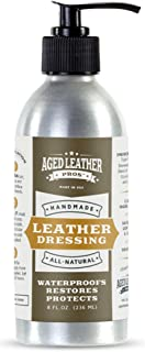 Aged Leather Pros Leather Conditioner Lotion (8 oz)   Rich Dressing Conditioner for Genuine Leather   Protects Purses, Shoes, Jackets, Couches, Auto Interior, Saddles and Much More