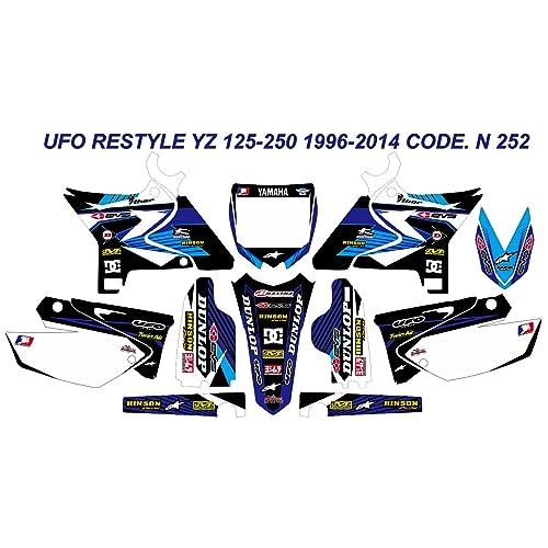 UFO Yamaha YZ 125 250 2002-2014 Restyled Radiator Covers White