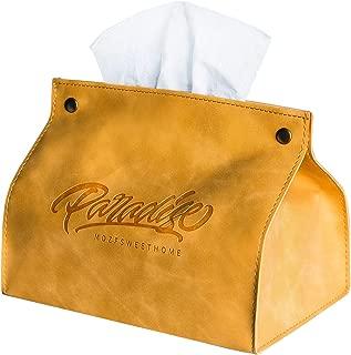 Royal Blue Golden Paper Tissue Box Holder Office Car Home Decor NEW