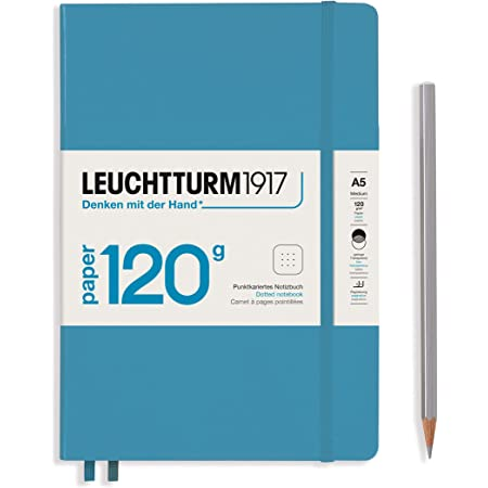 LEUCHTTURM1917 - 120G Special Edition - Medium A5 Dotted Hardcover Notebook (Nordic Blue) - 203 Numbered Pages with 120gsm Paper