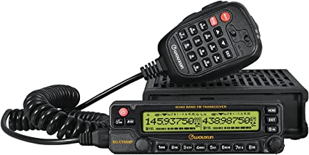 Wouxun KG-UV950P 50W 999CH VHF UHF 136-174/400-480MHz Quad Cross Band Car Truck Mobile Radio Two Way Transceiver
