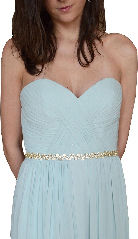 Rhinestones and crystals wedding dress sash bridesmaid dress sashes P03