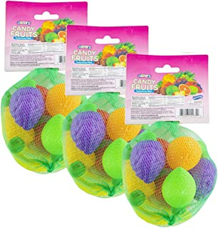 Assorted Fruit Shape Powder Filled Candy Gluten Free Candy Novelty Candy and Kosher Candy 8 units 3 Pack