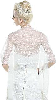 Aukmla Women's Bridal Wedding Lace Wraps and Shawls, Bolero for Women 70 15 Inches