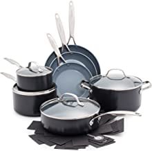 GreenPan Valencia Pro 100% Toxin-Free Healthy Ceramic Nonstick Metal Utensil Dishwasher/Oven Safe Cookware Set, Pots and P...