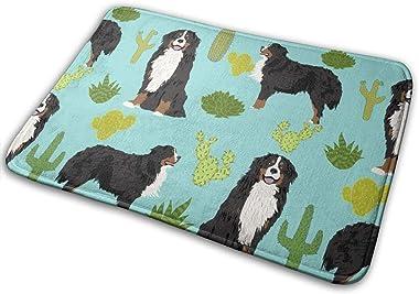 Bernese Mountain Dog Cactus Cactus Design Cactus Pet Dog Breed Trendy Dog_25607 Doormat Entrance Mat Floor Mat Rug Indoor/Out