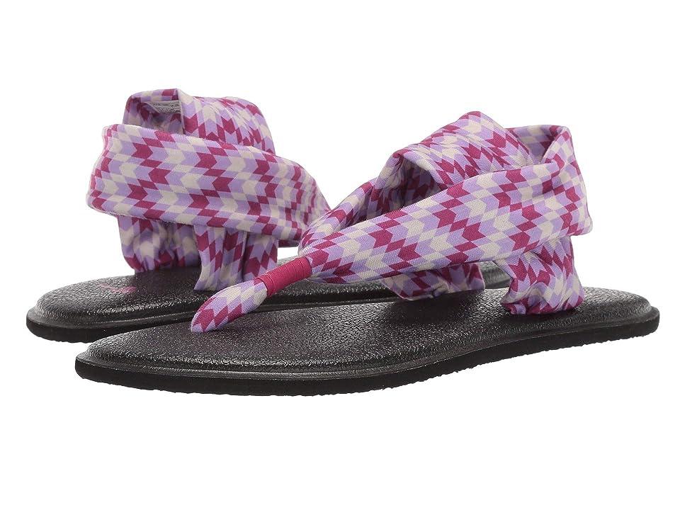 Sanuk Kids Lil Yog Sling 2 Prints (Little Kid/Big Kid) (Red Rock Chevron Pink/Purple) Girls Shoes
