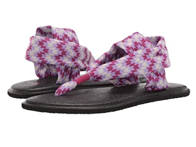 Sanuk Kids Lil Yog Sling 2 Prints (Little Kid/Big Kid) (Red Rock Chevron Pink/Purple) Girls Shoes