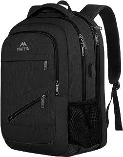 Laptop Backpack, Business Travel Backpack for 15.6 17 Inch Laptop, MATEIN Water Resistant High School Computer Bookbag for boys girls Student, Large TSA Backpack for Men Women with USB Port, Black