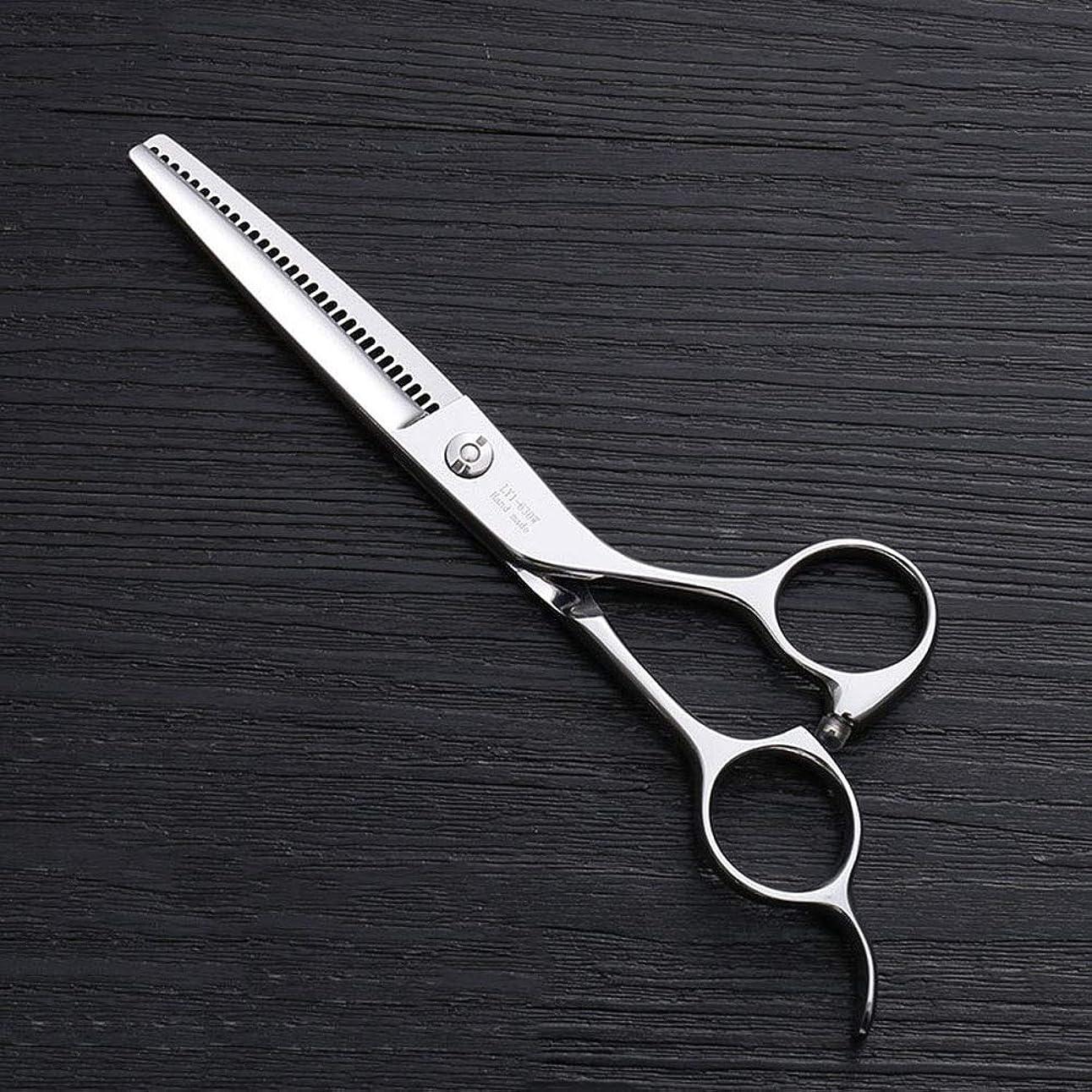 悪意春接地6インチ理髪はさみ、30歯理髪はさみ、ステンレス鋼理髪ツール モデリングツール (色 : Silver)