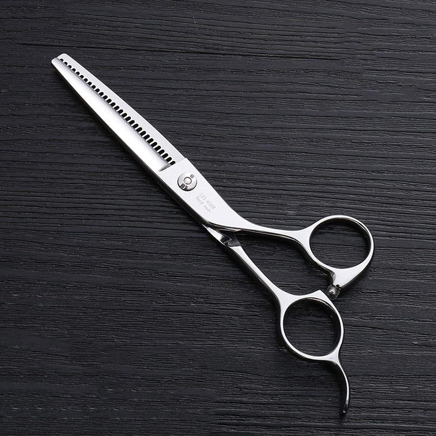 比喩耐久所有権6インチ理髪はさみ、30歯理髪はさみ、ステンレス鋼理髪ツール モデリングツール (色 : Silver)