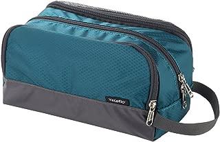 Small Toiletry Bag, Yeiotsy Ultra-thin Travel Shaving Kit Mesh Bag for Kids Toiletry Organizer Dopp Bag for Outdoors (Emerald Green)