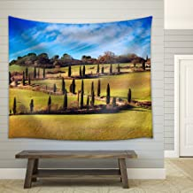 wall26 - Cypress Trees Scenic Road. Siena, Tuscany, Italy. - Fabric Wall Tapestry Home Decor - 68x80 inches