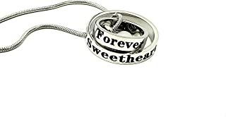 Sweetheart You are Forever in my Heart Cremation Urn Necklace with Filling Kit Memorial Remembrance Jewelry Keepsake Personalize