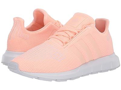 adidas Originals Kids Swift Run J (Big Kid) (Clear Orange/White) Girls Shoes