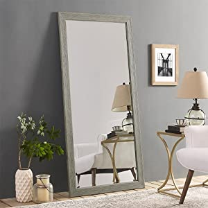 Naomi Home Rustic Floor Mirror Green Gray/66
