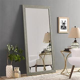 "Naomi Home Rustic Floor Mirror Green Gray/66"" x 32"""