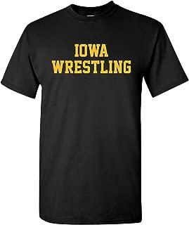 Iowa Hawkeyes Block Iowa Wrestling T-Shirt