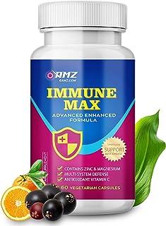 Immune Support with Zinc,Vitamin C,Elderberry,Garlic Bulb,Vitamin D,Sambucus,Magnesium,Selenium,Turmeric | 12 Herbs Immuni...
