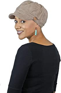 Newsboy Cap for Women Cancer Headwear Chemo Hat Ladies Head Coverings Tweed Corduroy