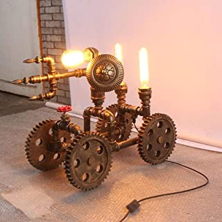 HYW Lámpara de Lectura Ideal- Retro Creativo Rueda de Tubo de Agua Antigua lámpara de