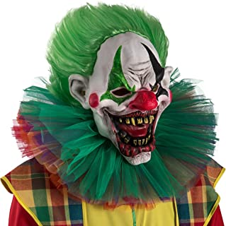 Carnival Toys 1469Clown Horror Mask with Hair, Multicoloured, One Size