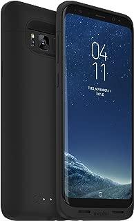 mophie Juice Pack Battery Case – Samsung Galaxy S8 Plus – 3,300 mAh Built-In Battery – Universal Wireless Charging – Black (Renewed)