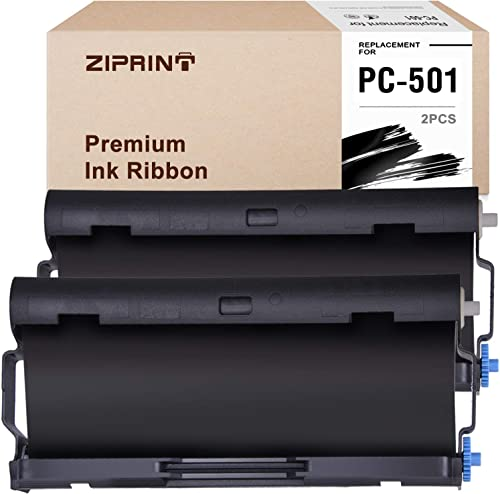 discount ZIPRINT 2 Pack PC501 wholesale PC 501 Compatible with Brother PC501 Fax Cartridge with Roll for use in Brother FAX 575 2021 Fax Printers (Black) online sale
