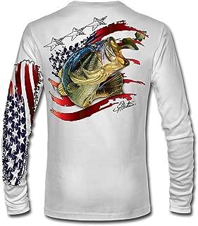 American Flag Bass LS High Performance Long Sleeve T-Shirt