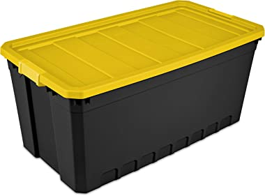 19 Gallon (76-Quart) Stacker Storage Box, Set of 6 Sterilite