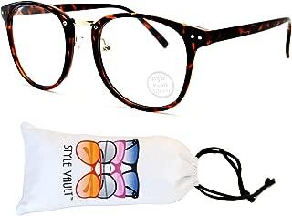 E417-vp Round Trendy Retro Cateye Panto Eyeglasses