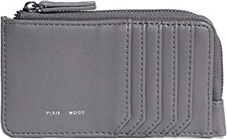 Pixie Mood Vegan Leather Quinn Card Wallet - Grey | L 3″ x D .25″ x H 5.25″