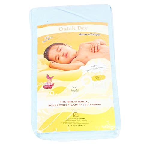 Quick Dry Double Bed Changing Mat - Blue, Double Bed
