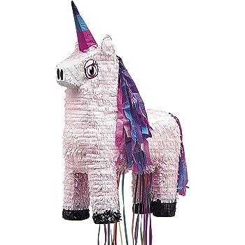 Unique Party 66014 - Unicorn Pinata, Pull String