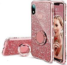 KC Cute Glitter Round Ring Diamond Stand Sparkly Transparent Silicon Designer Back Cover for Mi Redmi Note 7 & Redmi Note ...