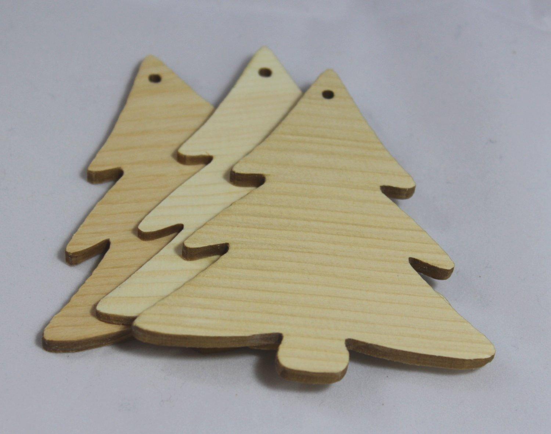 Juego de 3 El Pino abetos Árbol de Navidad de joyas cepillado con ...