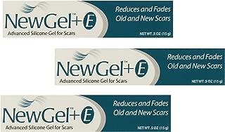 NewGel+E Advanced Silicone Gel for Scars - 15 Grams (3 Pack)