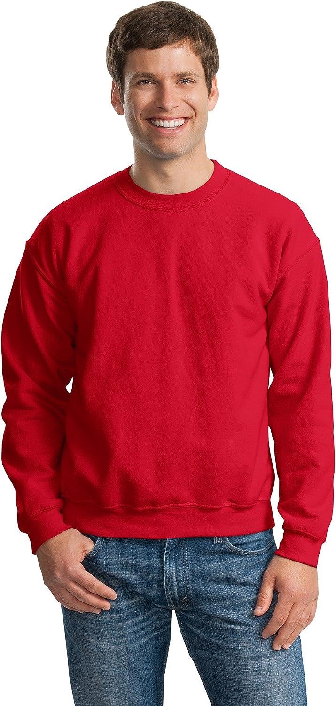 Gildan Activewear 50/50 Crewneck Sweatshirt, 2XL, Red