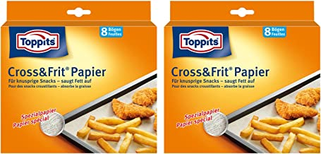 Toppits Cross & Frit Papier 37cm x 30cm, 2er Pack 2 x 8 Bögen