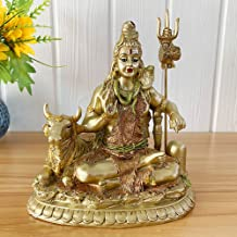 BangBangDa Hindu Lord Shiva Nandi Statue - Indian Diwali Gifts God Idol - India Ganpati Murti Pooja Item