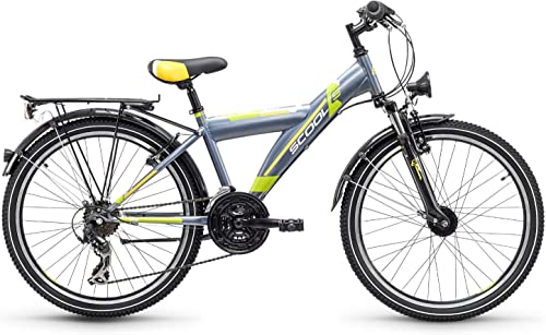 S'cool Xylite Steel 24 21-S Jugendrad Kinderfahrrad Kinderrad Darkgrau Lemon matt 7129