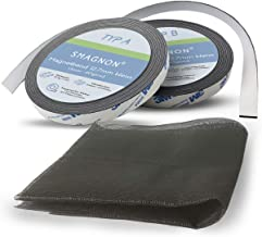 Vliegengaas, magneetband en insectenwerende gaas, magnetisch, zonder boren 80 x 100 cm Magneetband wit